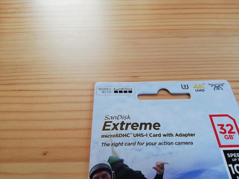 GoProで使えるマイクロSDカードの表記