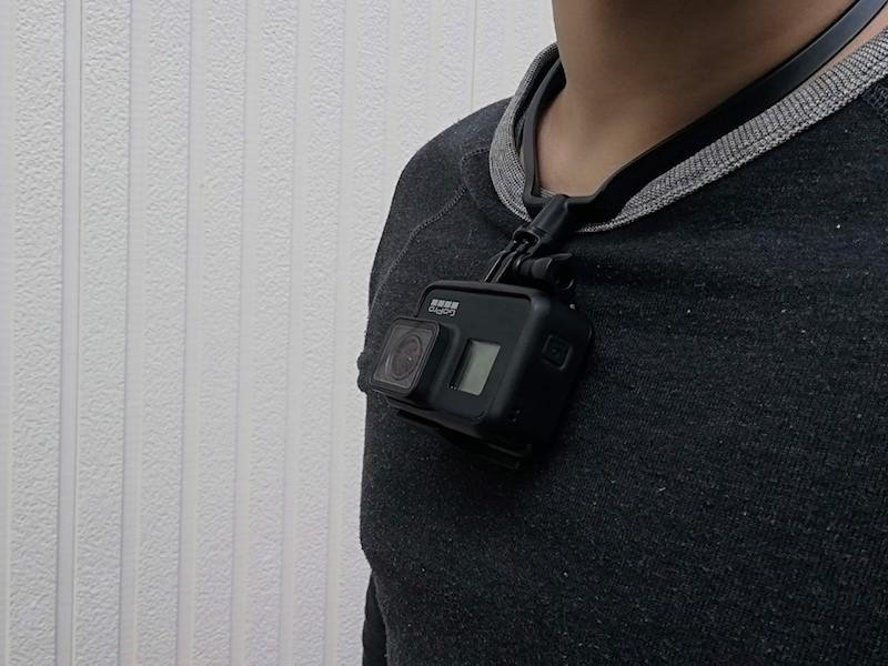 GoProのアングルが上を向いている