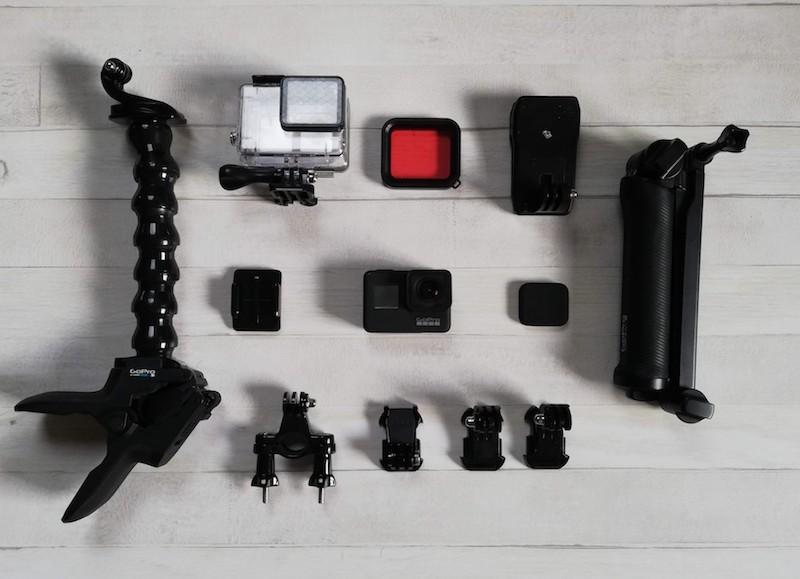 GoProとアクセサリー