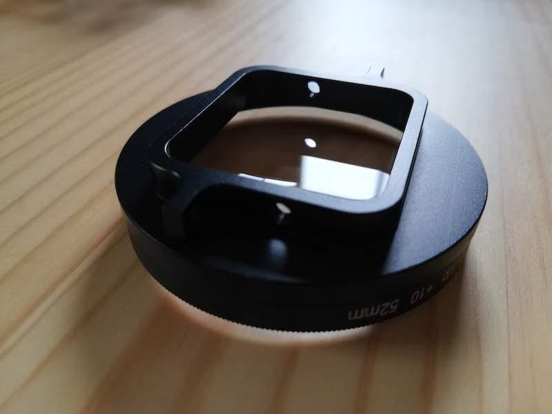 GoPro対応クローズアップレンズの取り付け穴