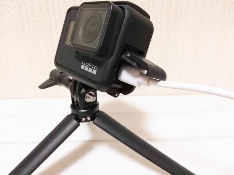 GoProを給電しながら使えるフレームケース