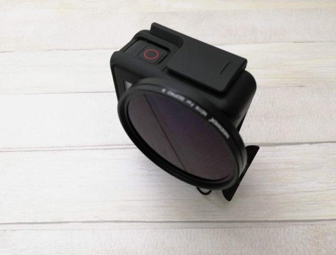 GoPro用Neewerのフィルターを装着