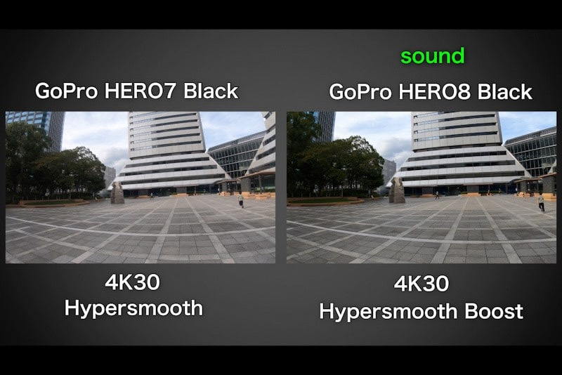 GoPro HERO8 BlackとHERO7の動画比較
