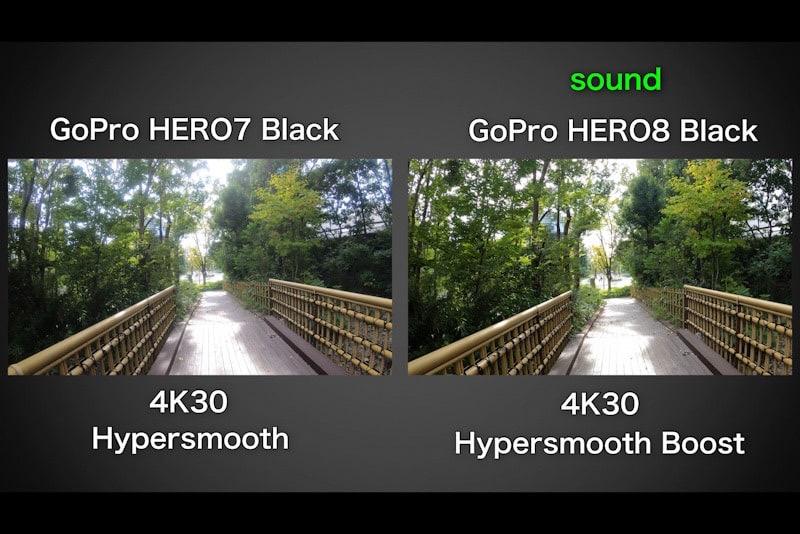 GoPro HERO8 BlackとHERO7の動画比較