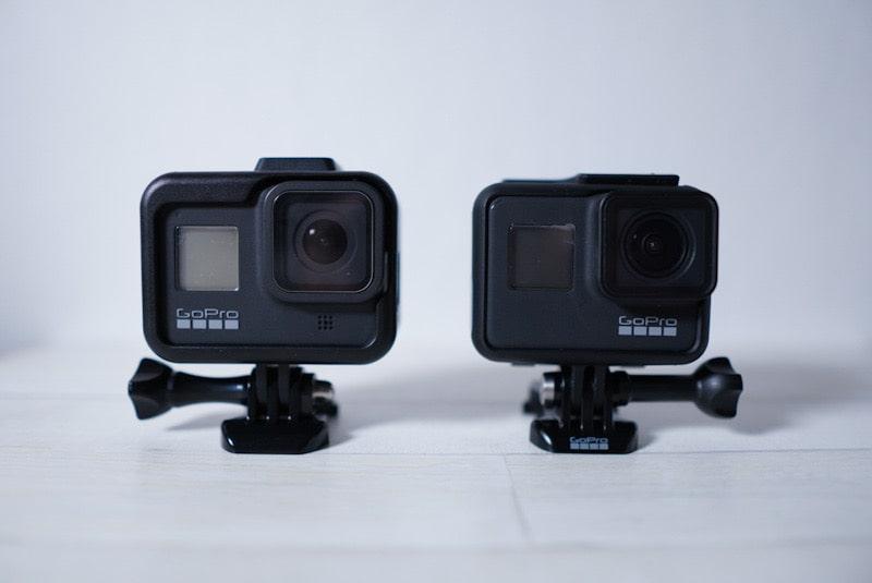 GoPro HERO8 BlackのフレームケースとHERO7のフレームケースと比較