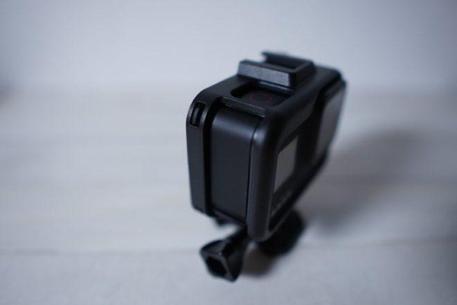 GoPro HERO8 Blackのフレームケースの給電口