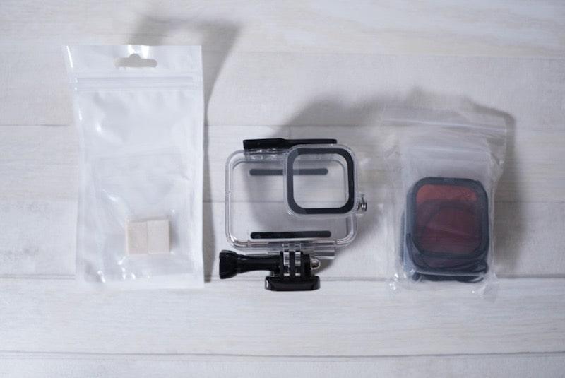 GoPro HERO8 Black用「Taisioner」のダイビングハウジングケース内容物