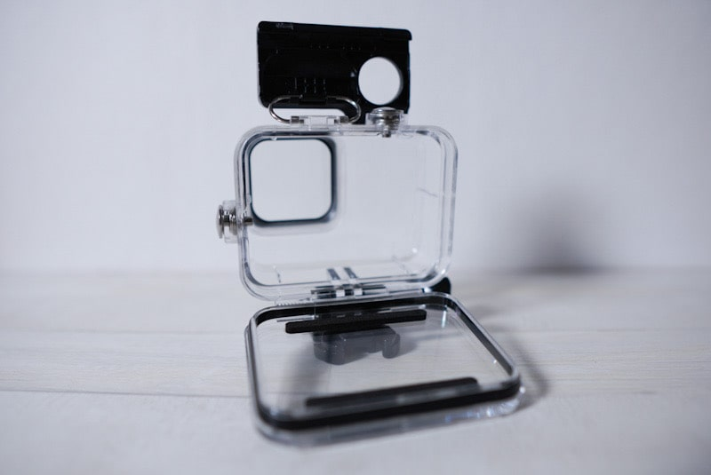 GoPro HERO8 Black用「Taisioner」のダイビングハウジングケースの内部