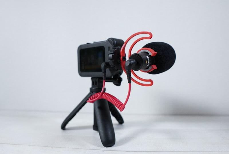 GONKISSのマイクスポンジとRODE Video Micro