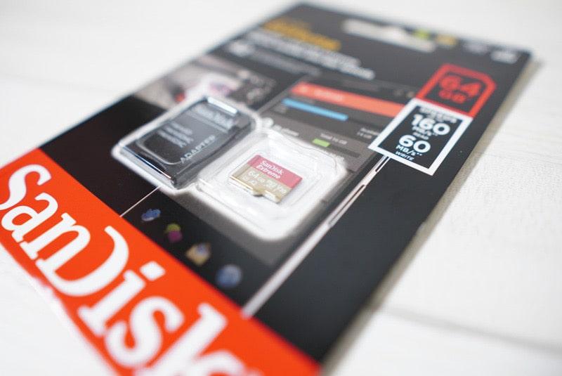 GoProで動作するマイクロSDカード