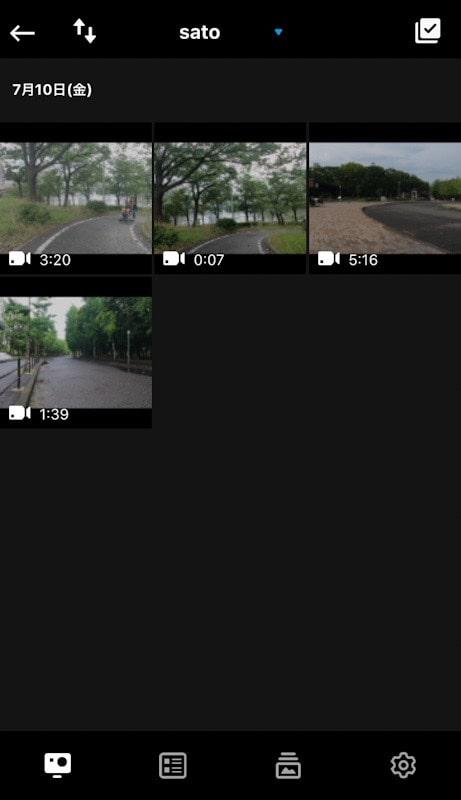 GoProアプリのメディア