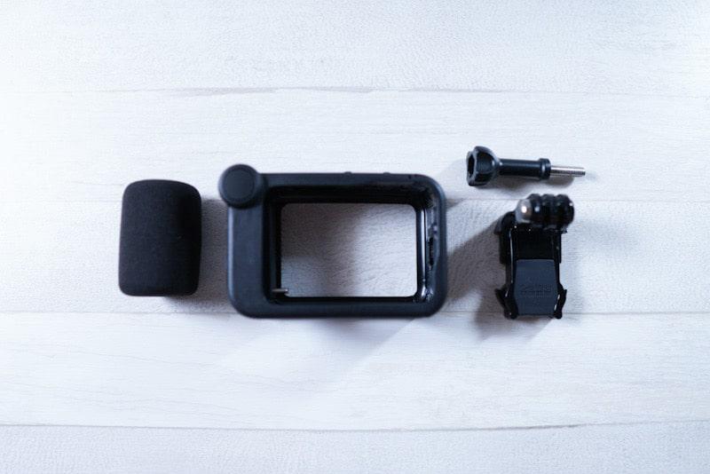 GoPro HERO9 Black用のメディアモジュラーの内容物