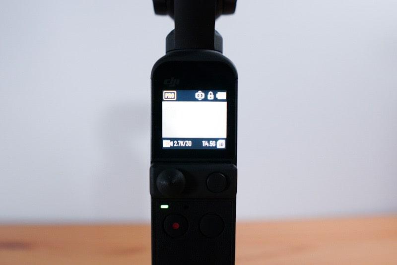DJI Pocket2のスクリーン
