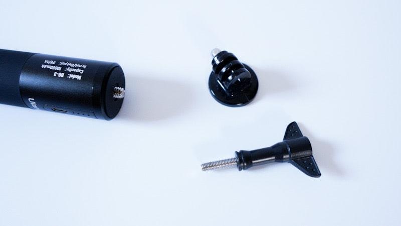 Ulanziのカメラグリップ型バッテリー『BG-3 POWER BANK GRIP』とGoProの取り付けに必要なアクセサリー