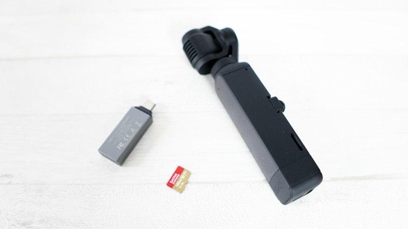 DJI Pocket2とmicroSDカードとカードリーダー