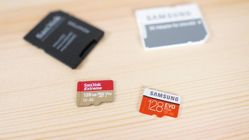 SandiskとサムスンのmicroSDカード