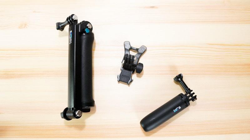 GoProのフィンガーにネジで取り付けるアクセサリー