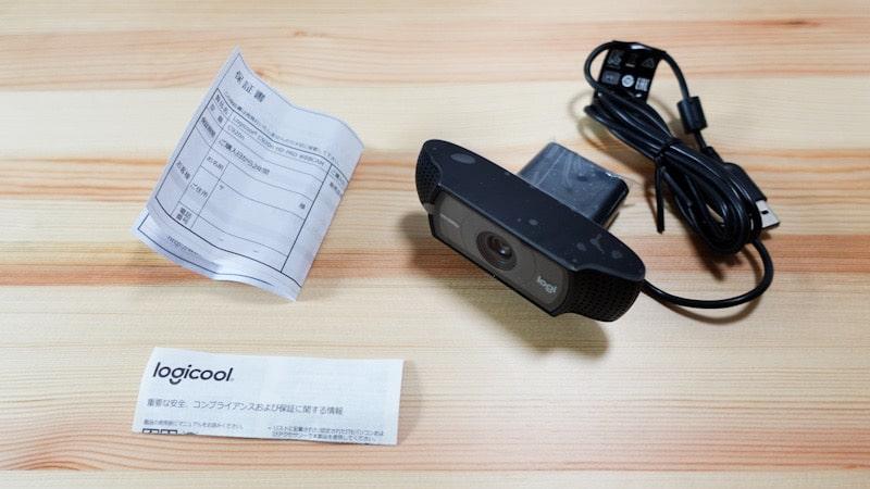 ロジクールのウェブカメラ『C920n』の内容物